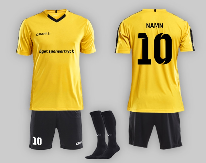 Designa fotbollströjor med eget namn och nummer
